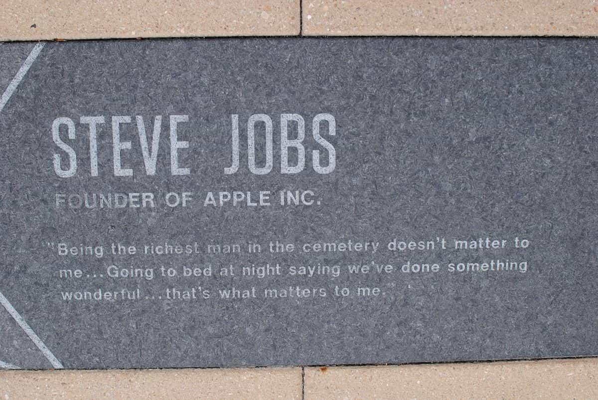 スティーブ・ジョブズの言葉の石碑