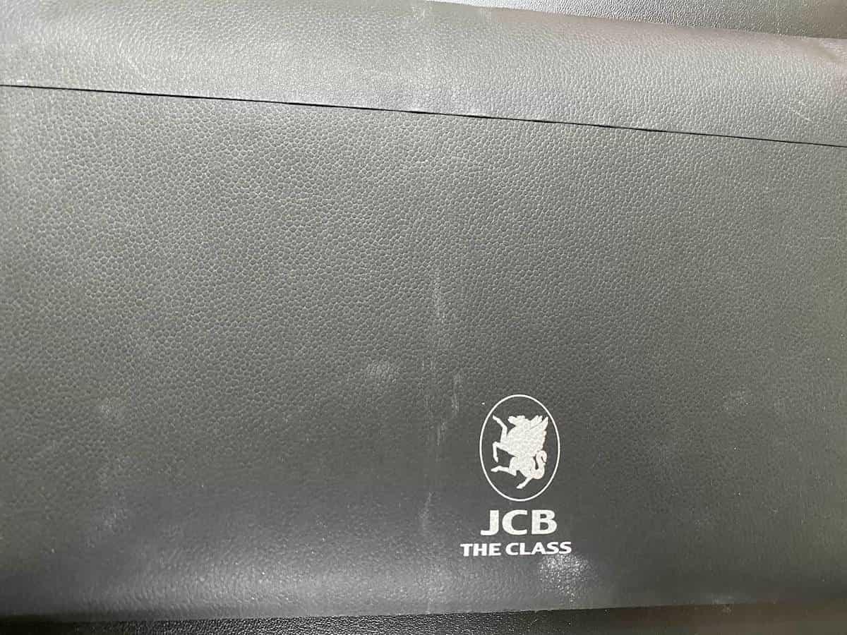 JCB THE CLASSの封筒裏側