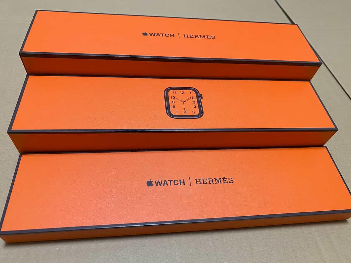 Apple Watchの化粧箱の中